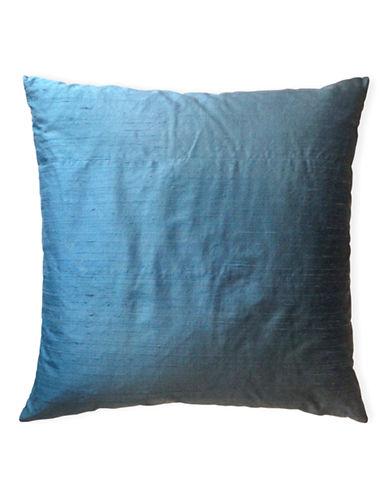 Glucksteinhome Dupioni Silk and Linen Decorative Cushion-BLUE-20x20