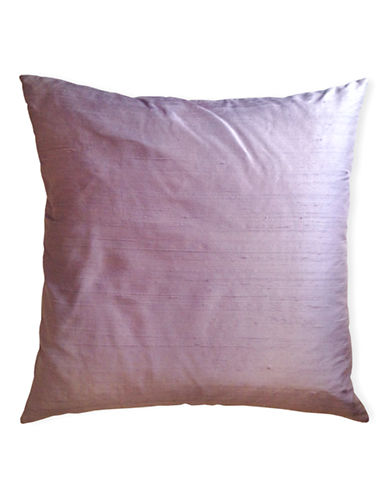 Glucksteinhome Dupioni Silk and Linen Decorative Cushion-LAVENDER-20x20