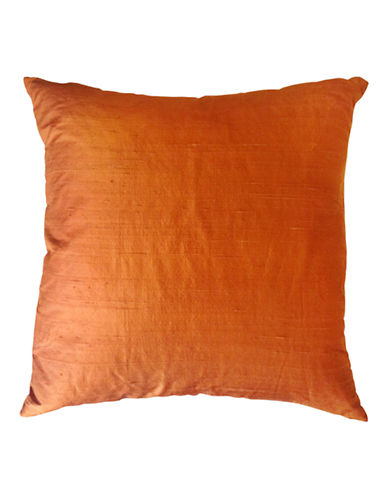 Glucksteinhome Dupioni Silk and Linen Decorative Cushion-SPICE-20x20