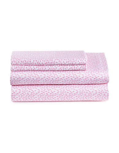 Bluebellgray Four-Piece Rain Sateen Sheet Set-FUCHSIA-Double