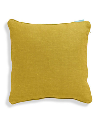 Bluebellgray Linen Feather-Filled Cushion-YELLOW-One Size