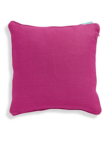 Bluebellgray Linen Feather-Filled Cushion-CERISE-One Size