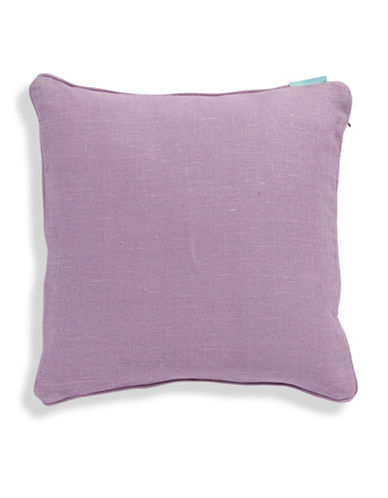 Bluebellgray Linen Feather-Filled Cushion-PURPLE-One Size