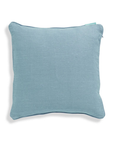 Bluebellgray Linen Feather-Filled Cushion-DUCK EGG-One Size