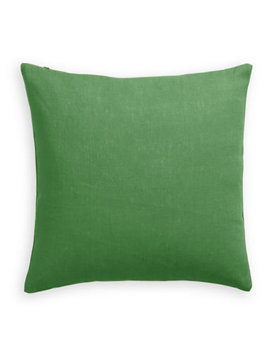 Distinctly Home Linen Feather Filled Pillow-GREEN-One Size