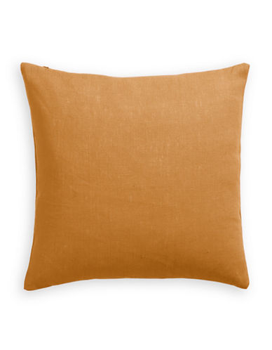 Distinctly Home Linen Feather Filled Pillow-MUSTARD-One Size