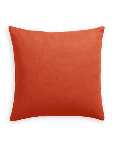 Distinctly Home Linen Feather Filled Pillow-ORANGE-One Size