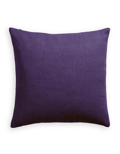 Distinctly Home Linen Feather Filled Pillow-PURPLE-One Size