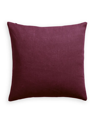 Distinctly Home Linen Feather Filled Pillow-WINE-One Size