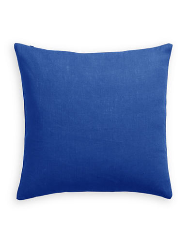 Distinctly Home Linen Feather Filled Pillow-FRENCH BLUE-One Size