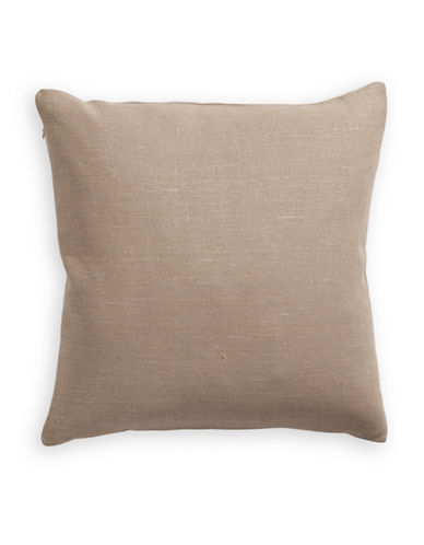 Distinctly Home Linen Feather Filled Pillow-CHOCOLATE-One Size