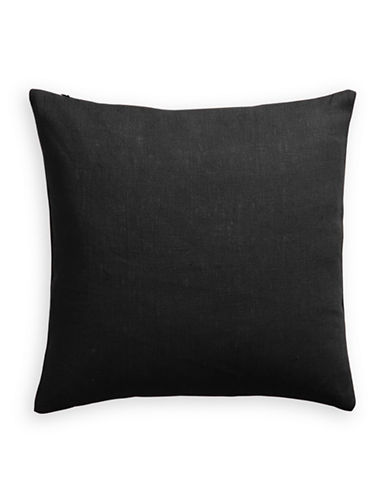 Distinctly Home Linen Feather Filled Pillow-BLACK-One Size