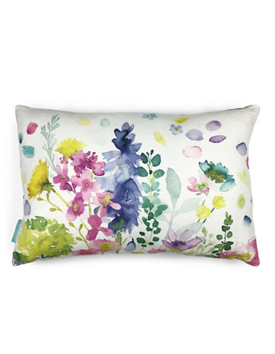 Bluebellgray Catherine Floral Linen Cushion-MULTI-COLOURED-One Size