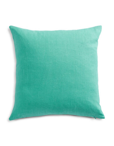 Distinctly Home Linen Cushion with Feather Fill-LAGOON-One Size