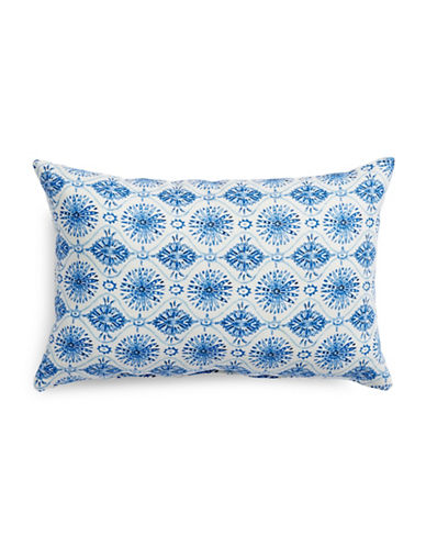 Dh Printed Linen-Blend Cushion-BLUE-One Size