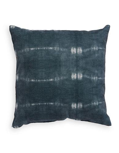 Glucksteinhome Elements Linen Square Cushion-BLUE-18x18