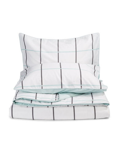 Aura Verve Three-Piece Duvet Cover Set-GLACIER-King