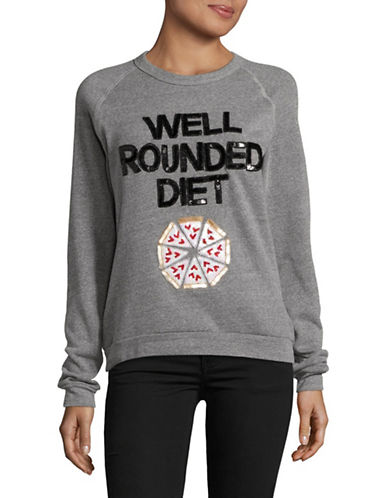 Bow And Drape Well Rounded Boyfriend Sweatshirt-GREY HEATHER-Large