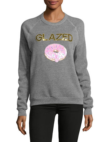 Bow And Drape Glazed Boyfriend Sweatshirt-GREY HEATHER-Large