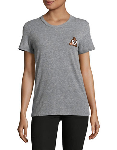 Bow And Drape Emoji Tee-GREY HEATHER-Medium
