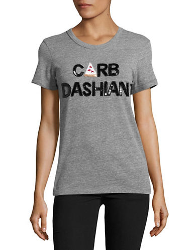 Bow And Drape Carbdashian Tee-GREY HEATHER-X-Large
