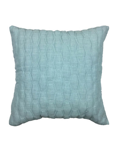 Aura Gavin Quilted Decorative Cushion-BLUE-18x18