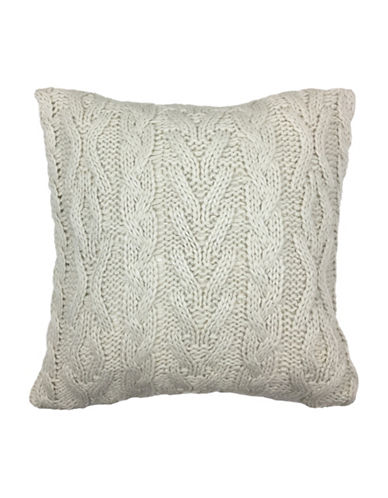 Aura Luka Knit Decorative Cushion-BEIGE-18x18