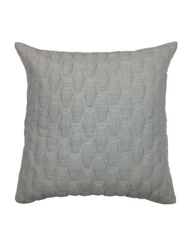 Aura Gavin Quilted Decorative Cushion-GREY-18x18