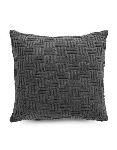 Glucksteinhome Jasper Knit Cushion-CHARCOAL-18x18