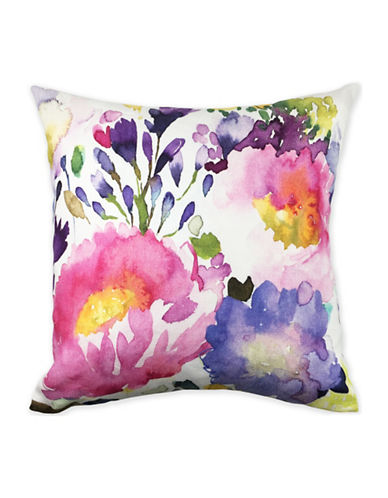 Bluebellgray Floral Printed Cushion-MULTI-18x18