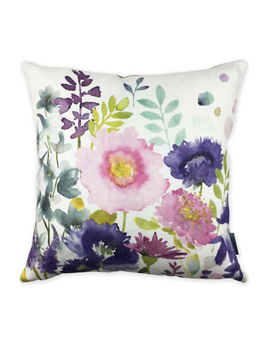 Bluebellgray Florrie Decorative Linen Cushion-MULTI-18x18