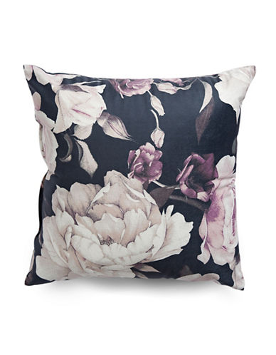 Distinctly Home Amalea Floral Throw Cushion-PURPLE-18x18