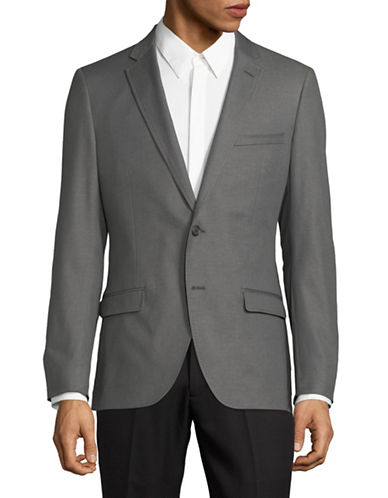 Black Brown 1826 Twill Double-Face Sportcoat-GREY-Small
