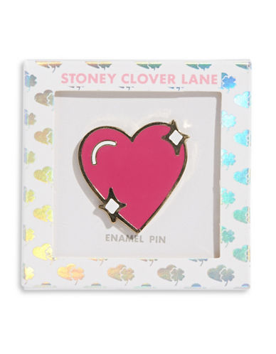 Stoney Clover Lane Sparkle Heart Pin-MULTI-One Size