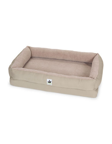 Image of 3 Dog Pet Supply EZ Wash Fleece Lounger Memory Foam Dog Bed-SAGE-Medium
