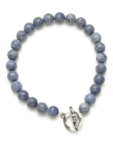 Degs And Sal Natural Coral Toggle Bracelet-BLUE-One Size