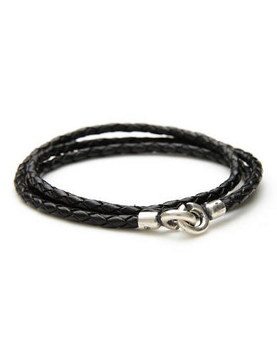 Degs And Sal Black C Clasp Bracelet-BLACK-One Size