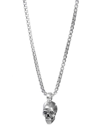 Degs And Sal Skull Necklace-SILVER-One Size