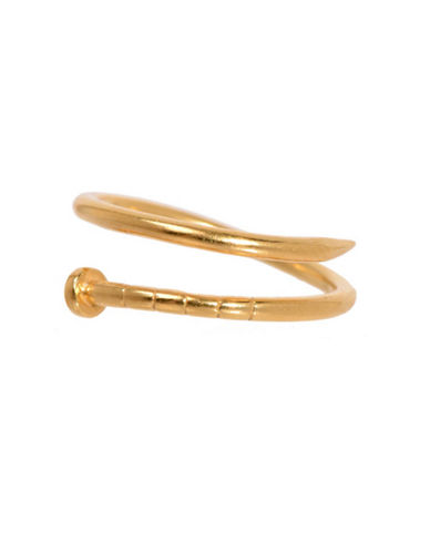 Degs And Sal Goldplated Sterling Silver Nail Ring-GOLD-One Size