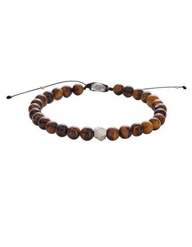 Degs And Sal Sterling Silver Tiger Eye Bracelet-BROWN-One Size