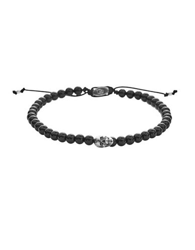 Degs And Sal Onyx and Sterling Silver Bracelet-BLACK-One Size