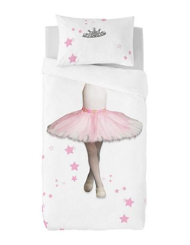 Gouchee Design Two-Piece Ballerina Print Duvet Cover Set-PINK-Twin