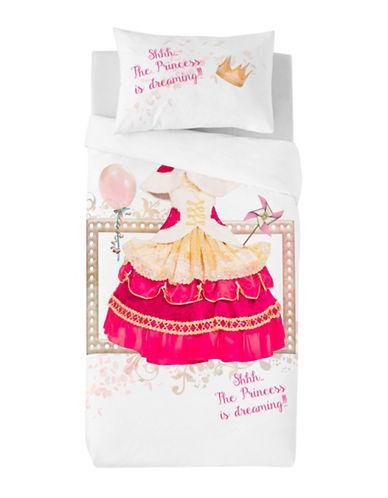 Gouchee Design Two-Piece Princess Print Duvet Cover Set-PINK-Twin