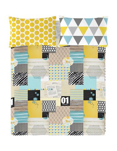Gouchee Design Three-Piece iPatchwork Queen Duvet Cover Set-MULTI-Queen