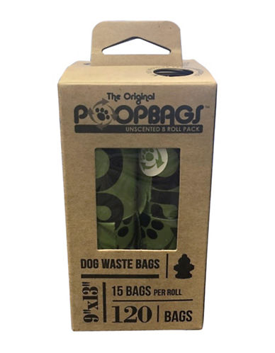 Original Poop Bags 120-Pack Count Down Recycled Rolls Pet Waste Bags-GREEN-One Size