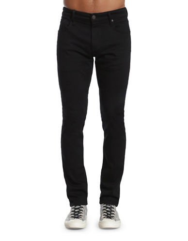 Mavi James Skinny Leg Pants-BLACK-33X34