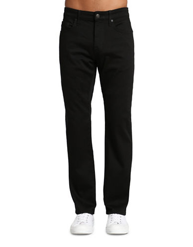 Mavi Zach Straight Leg Jeans-BLACK-30X32