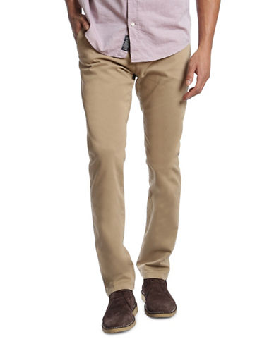 Mavi Johnny Slim Leg Chino Pants-BEIGE-40X32
