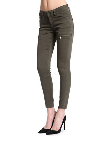 Mavi Karlina Mid Rise Ankle Jeans-MILITARY TWILL-32