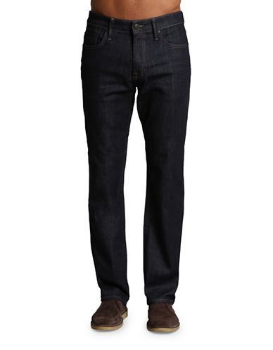 Mavi Myles Mid Rise Straight Leg Jeans-DARK BLUE-30X34